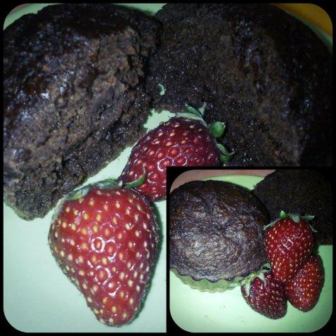 muffins σοκολατοφρουτένια